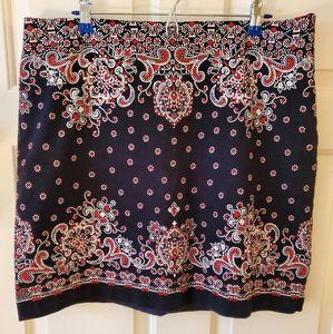 Talbots Printed Skirt